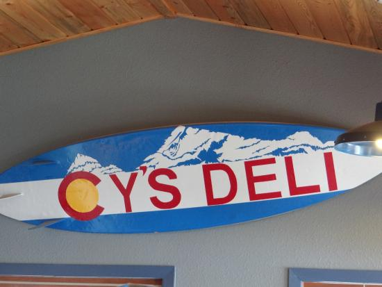 Cy's Deli: their sign