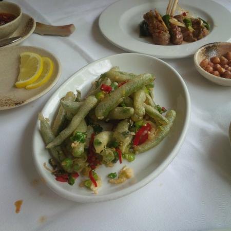 Hunan: Crispy Green Beans with chilli and garlic