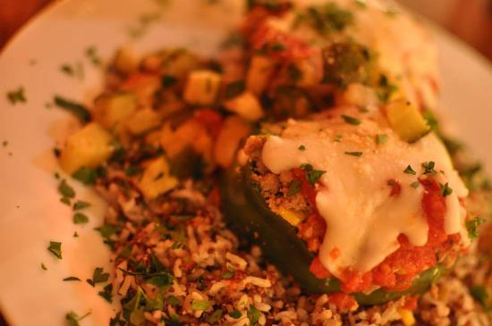 Yellow Moon Cafe: Divine stuffed peppers