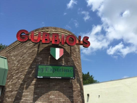Gubbio's Italian Restaurant: Look for the sign
