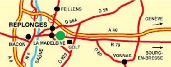 Replonges, Frankreich: Plan d'accès