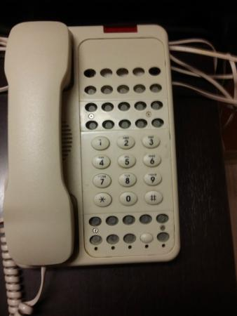 Motel 6 Riverton : phone missing all the buttons but the numbers