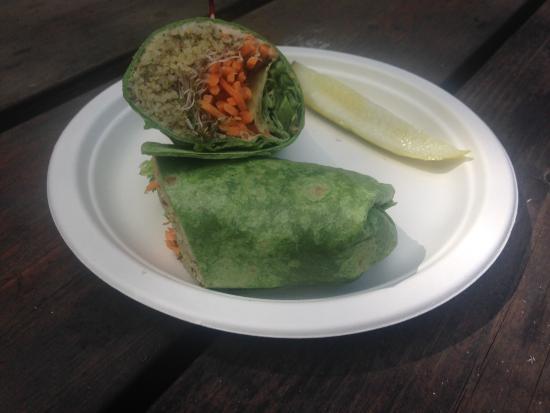 Good Life Market: Hummus veggie wrap.
