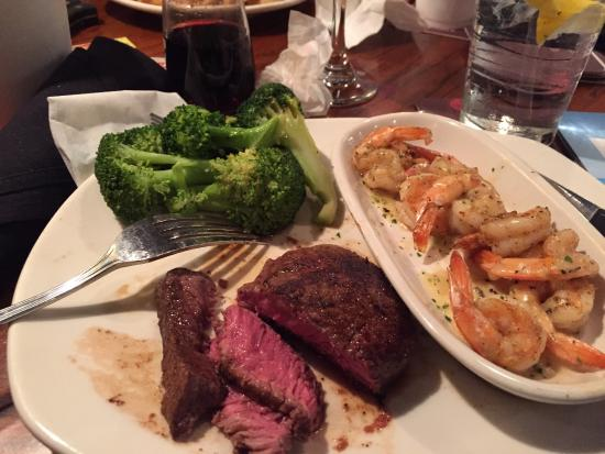 Outback Steakhouse: All you can eat shrimp surf and turf