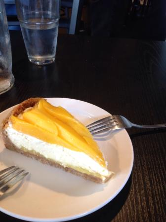 The Roost: Key lime mango cheese pie with coconut crust.