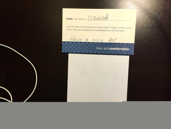 Hampton Inn: House Keeper card