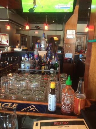 Red Sky Tapas & Bar: At the bar enjoying happy hour