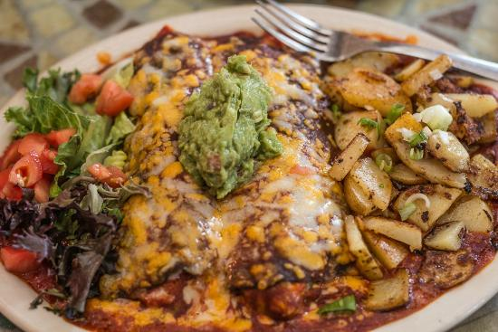 Ribera, Nuevo Mexico: Blue Corn Cheese Enchilada