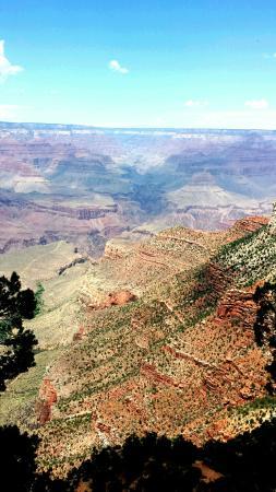 Grand Canyon Railway: view of Grand Canyon south rim