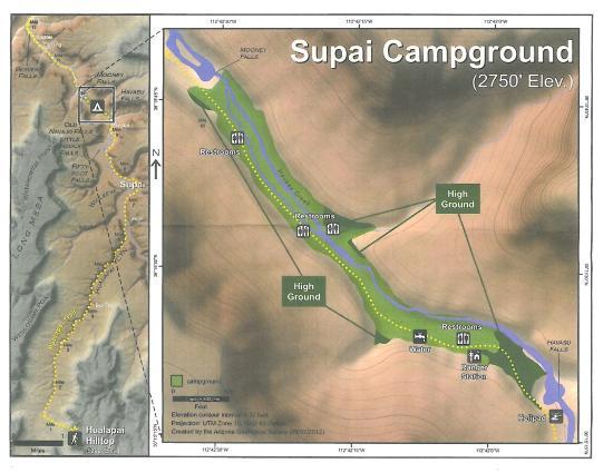 Trail Map  Picture Of Havasu Falls Supai  TripAdvisor