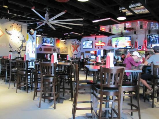 The Garage Burgers And Beer Restaurant Seating