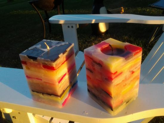 Wax 'n Wix: my summer 2015 candles. these are the large square candles. $12.95 I think...