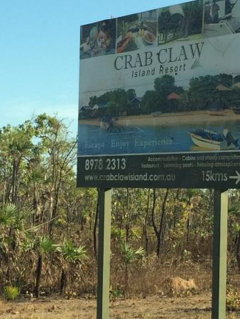 The sign - Picture of Crab Claw Island Resort, Crab Claw