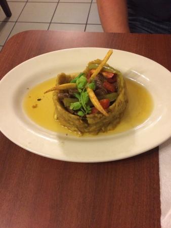 El Rincon Del Sabor: Delicious steak and plantain dish