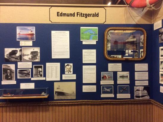 Marquette Maritime Museum: Beginning exibition of Edmund Fitzgerald Ship