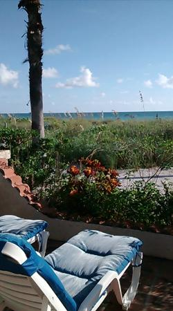 Sandpiper Inn: view from front patio of room 200