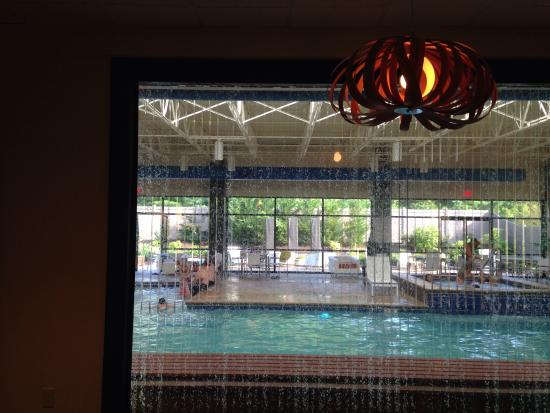 Holiday Inn & Suites Charleston West: Window from lobby looking into pool area