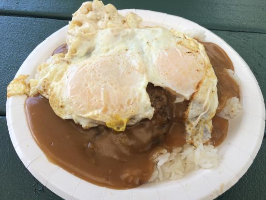 Loco Moco Picture Of Rainbow Drive In Honolulu Tripadvisor
