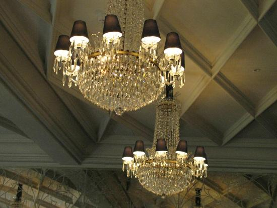 Waterford chandeliers in george v dining room picture of for George v dining room