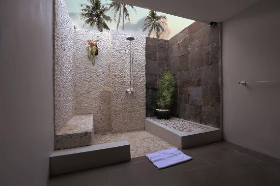 Semi Open Bathroom With Shower