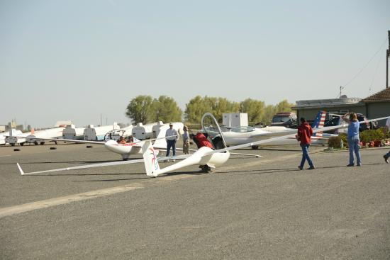 Williams, Kalifornia: Lots of people love to fly gliders and help.