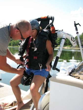 Lindstrom, MN: Getting strapped into the Jetpack