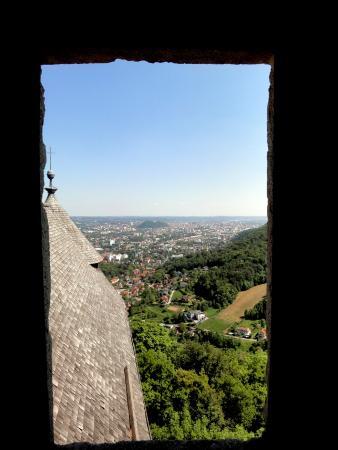 Burgruine Gösting: Ausblick beim Treppensteigen