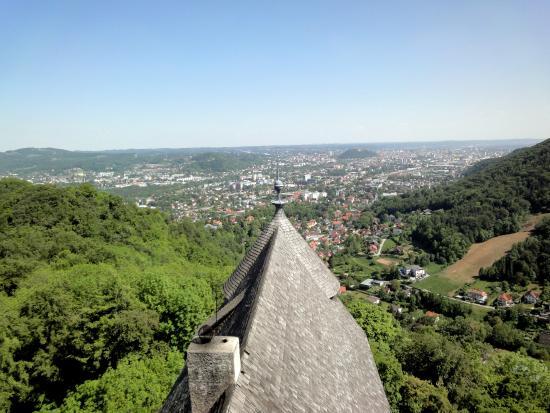 Burgruine Gösting: Aussicht vom Bergfried