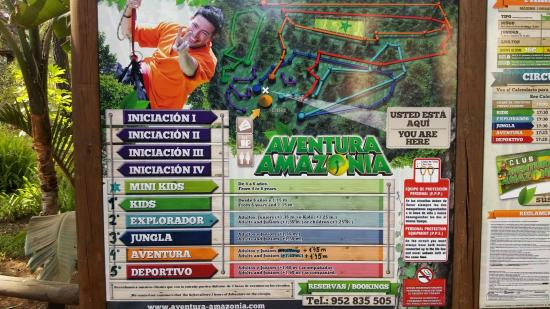 Costa del Sol, Spania: Olika höghöjdsbanor i Aventura Amazonia
