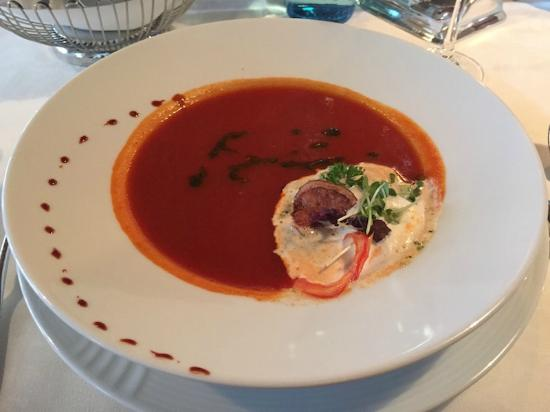 Hotel Schwarzer Adler A la Carte Restaurant: zuppa di pomodoro
