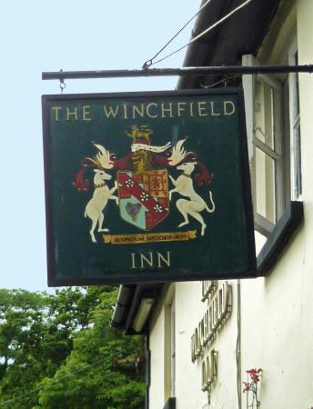 Winchfield, UK: A welcome sign