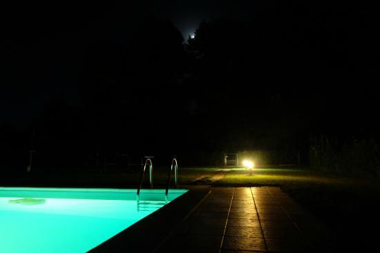 Agriturismo Rio Manzolo: la piscina di notte