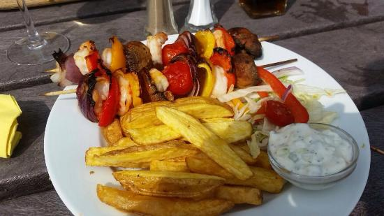 Blackburn, UK: Prawn Kebab
