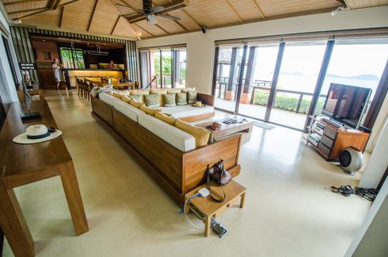 Sri Panwa Phuket Luxury Pool Villa Hotel: Huge Living Room With Awesome Sound  System And