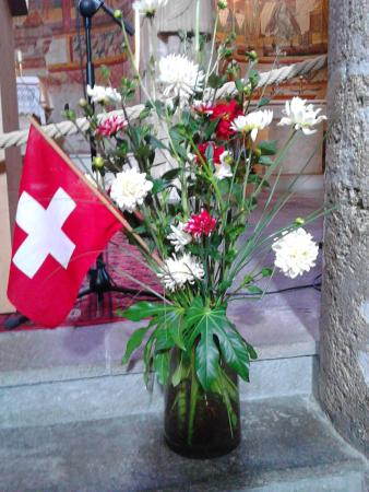 Benedictine Convent of Saint John Müstair: Müstair Kirche Schweizer Nationalfeiertag 1. August 2015