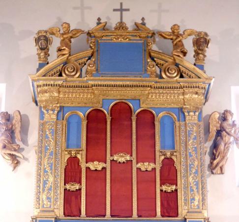 Chiesa di Santa Maria della Fraternità : cantoria, particolare