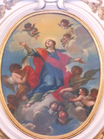 Chiesa di Santa Maria della Fraternità : affresco della porta