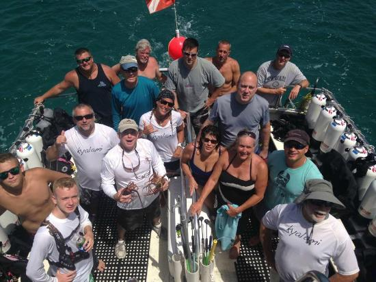 Jupiter, FL: Returning from a great day of diving with Capt SL8R Charters