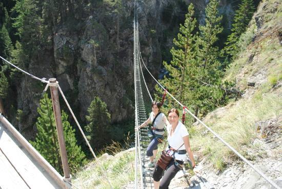 Claviere, Itália: partenza dal primo ponte