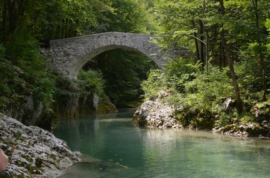 Logje, Slovenia: Napoleonsbrücke nahe Podbela