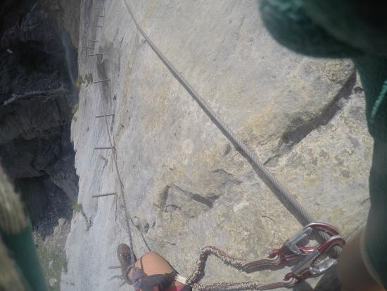 Klettersteig Allmenalp : Via ferrata bild von kandersteg allmenalp klettersteig