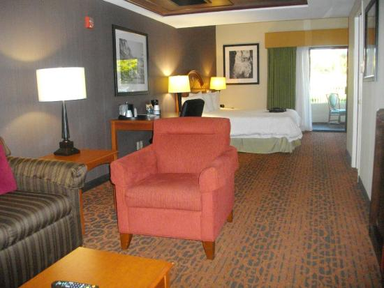 Hampton Inn and Suites San Clemente: The room has a sitting area
