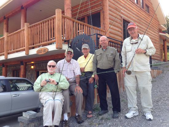 York Creek Bed & Breakfast: Our fishing group at York Creek
