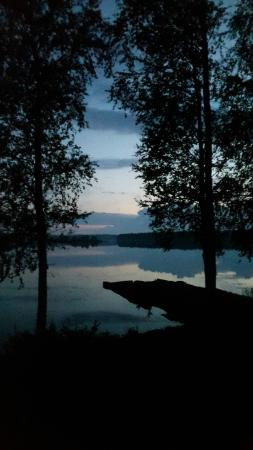 Région de l'Ostrobotnie du Nord, Finlande : view from the cottage to the lake