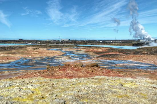 Hdr Image Of Mud Pools And Steam Vents At Gunnuhver