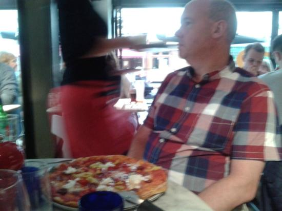 David With Hot American Pizza Picture Of Pizza Express
