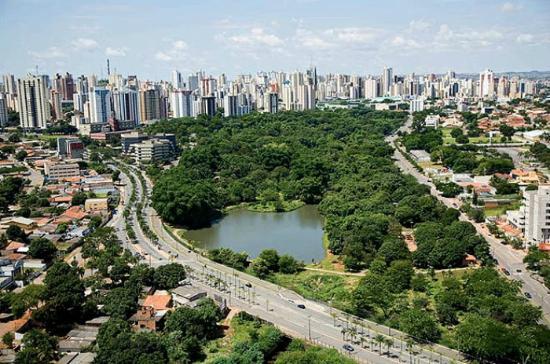 Vista área do Parque Areião