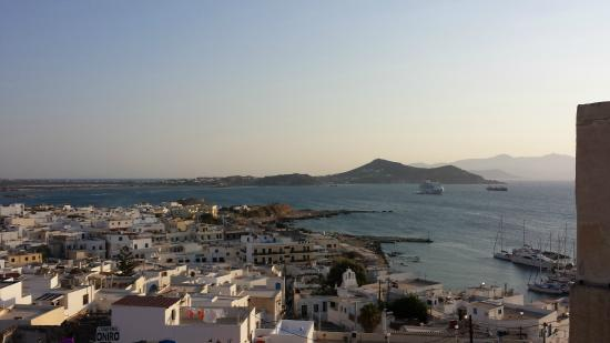 Naxos Town, Greece: view to the harbour