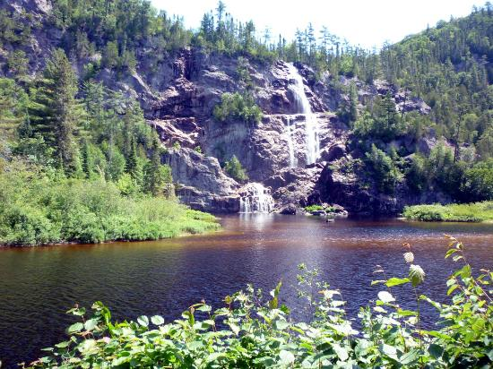 Sault Ste. Marie, Canada: Waterfall at Agwa Canyon