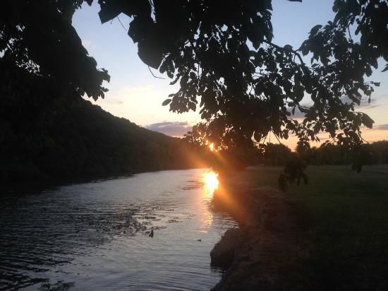 The Arkansas River Trail: Sunset near Two Rivers Bridge